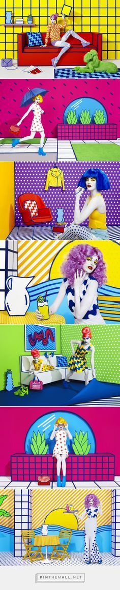 Sagmeister & Walsh turn reality into pop art props for department store campaign