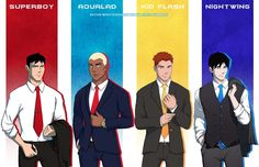 young justice boys in suits