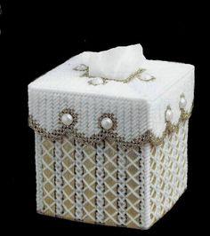 GOLDEN RIBBON  Elegant Boutique Size Tissue Box Cover  Lots