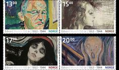 Le Cri, Edvard Munch, How To Make Paper, Postage Stamps, Norway, Country, Prints, Anniversary, Action