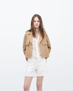 Loose Cut Camel Jacket | Zara