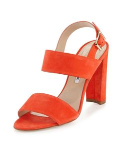 MANOLO BLAHNIK KAHN SUEDE DOUBLE-BAND SANDAL. #manoloblahnik #shoes #