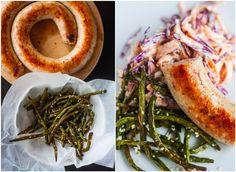Mad på 4 sal: Bønnefritter med medister og coleslaw Coleslaw, Seaweed Salad, Love Food, Shrimp, Meat, Ethnic Recipes, Coleslaw Salad, Cabbage Salad