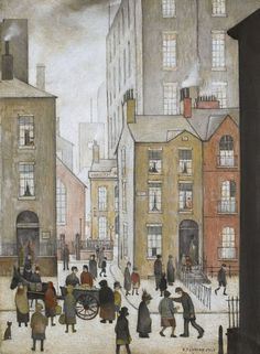 Laurence Stephen Lowry: artista famoso The Hawker's Cart - 1929 Salford, Urban Landscape, Landscape Art, Illustrations, Illustration Art, People Illustration, Framing Canvas Art, Caricature, English Artists