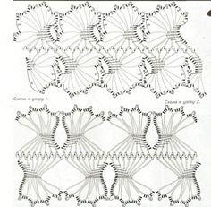Вязание крючком и спицами/Crochet and knitting: Узоры крючком - вязание на вилке