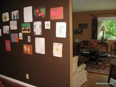 magnet wall and many more ideas for displaying kids artwork