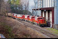 RailPictures.Net Photo: GNRR 8705 Georgia Northeastern EMD GP18 at Canton , Georgia by David Stewart
