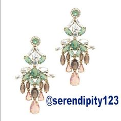 """J. Crew Crystal Cascade Earrings - Pesto NWT J. Crew Crystal Cascade Earrings - Statement making any day of the week. – DETAILS: Retail $95 – Color: Pesto – Length: 4"""" - Brass, glass. -  Light gold ox plating - Import – Brand New with Tags J. Crew Jewelry Earrings"""