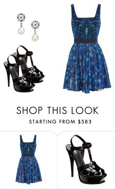 """""""318 outfit"""" by julieannbb13 ❤ liked on Polyvore featuring Yves Saint Laurent and Mikimoto"""