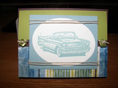 '57 Chevy Father's Day Card www.suesstampingstation.blogspot.com