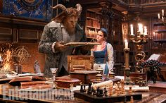 'Beauty and the Beast': See 9 Enchanting, Exclusive Photos | Dan Stevens as The Beast and Emma Watson as Belle | EW.com