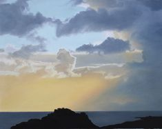 Available to purchase online, Fairy Tales, beautiful painting of a dusk sky/seascape by contemporary artist Catherine Ocholla, size 41 x 33 cm framed. Dusk Sky, Black Shadow, Shadow Box Frames, Buy Art Online, Beautiful Paintings, Contemporary Artists, Fairy Tales, Clouds, Gallery