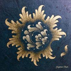 #hatayi #tarama #halkar #detay #tezhip #hat #sanat #art #illumination #calligraphy #islamicart #fineart #gilding #gold #drawing #sketch #paper #brush #detail #instaart #izmir #تذهيب