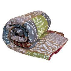 Koko Company Cotton 60 x 60 Hand Tie-Dye Stripe Throw - Earth Tones Review Buy Now