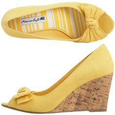 yellow shoes! so incredibly comfy.  I won't mind wearing them all night