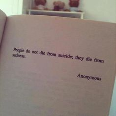 Evidence: A quote on suicide that I repinned from pinterest Argument: This could be an effective visual aid. I feel that it really captures the big picture and uses pathos as a way to remind others that they can't ignore those who are clearly in distress.