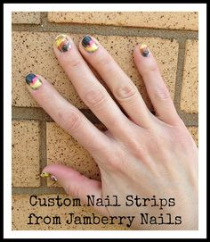 As Seen In Babble.com - Custom Nail Strips from Jamberry Nails - Create nail art using your child's art work