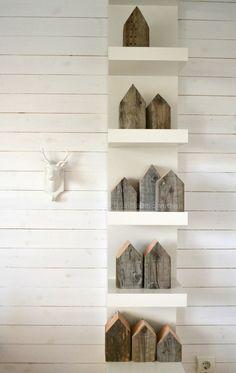 houses + shelf