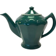 Love the color on this Hall China Turquoise Teapot in the Albany shape!Albany is a taller, more slender teapot than many of the Hall shapes. Vaguely