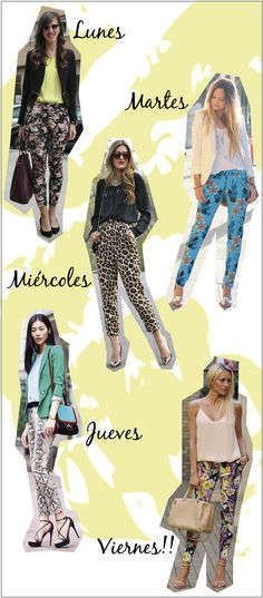 estilozas: 5 looks de oficina para la semana Mom Outfits, Office Outfits, Pretty Outfits, Casual Outfits, Fashion Outfits, Womens Fashion, Floral Pants Outfit, Look Office, Moda Boho