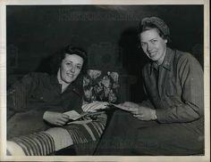 Somewhere in Italy....Army Nurses Lieutenants Langhorne Cloyd, of Montgomery, West Viriginia, and Ruth Eastman, of Pulaski, Virginia, enjoy their mail from home, at an Army Evacuation Hospital near frontlines, 1944 ~