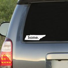 #Tennessee #Home State #Car #Decal | $6.95 by #HomelandTees  - Click here www.homeland-tees.com  #UT #Vols #Volunteers #Knoxville #Nashville #Memphis #Titans