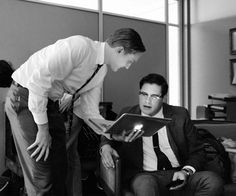 Mad Men - Behind the scenes. This has to be one of the coolest pictures, ever.