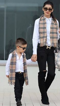 things in the world so the best way for mommies to bond with kids can be through amazing matching outfits. Check these fashionable mummy and me outfit ideas you Mother Son Matching Outfits, Mom And Son Outfits, Outfits Niños, Family Outfits, Baby Boy Outfits, Kids Fashion Boy, Toddler Fashion, Mother Son Photos, Mother Daughters