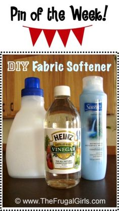 DIY Homemade Fabric Softener Recipe! ~ from TheFrugalGirls.com ~ it's SO simple to make and such a huge $$-saver! #laundry #cleaners #thefrugalgirls