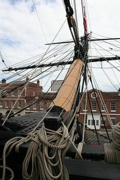 """Bowsprit of """"HMS Victory.""""    Known as """"widow maker"""""""