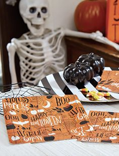 HAPPY HALLOWEEN COLLAGE PAPER TABLEWARE  by Design Design Halloween Design, Happy Halloween, Design Design, Collage, Paper, Tableware, Desserts, Food, Tailgate Desserts