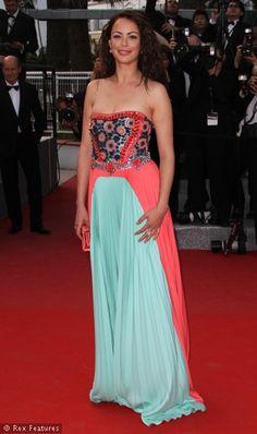 Berenice Bejo in an ornate Prada gown, Cannes Film Festival, 2012