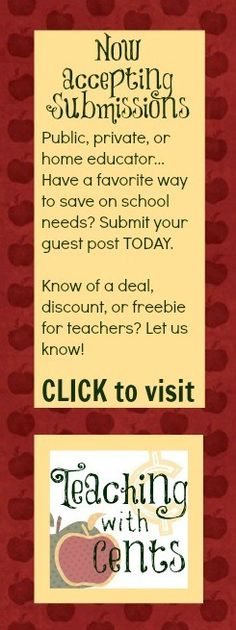 Are you a teacher? Submit your tips at TeachingwithCents.com