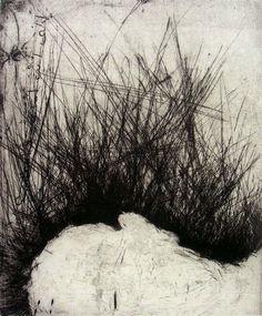 David Maes, 	 Où vas-tu? (2008) Print: dry point / steel - paper: 60 x 48 cm