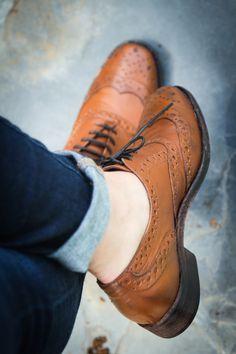 Zapatos estilo Oxford.