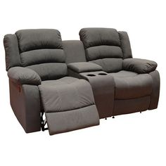 Feel like your at the movies with the Garner Home Theater Console just $799.  Featuring drink tray and storage compartment and the comfort of plush back support. Made from dimple polyester fabric in the colour of steel. A quality lounge recliner set to suite any size room.  http://macleodsfurniture.com.au/index.php/upholstery/home-theater-lounges/garner-2-seater-home-theater-console.html #macleodsfurniture #reclinerlounge #hometheater #lounge
