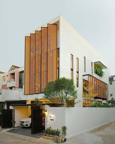 Nakit House in by NaCKit Architect Photo by Wilmez Photography - Pin This Facade Architecture, Residential Architecture, Contemporary Architecture, Modern House Facades, Modern House Design, Building Facade, Building Design, Facade Design, Exterior Design