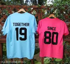 'Together Since' T-Shirts: Creative Anniversary Gift Idea - Modern - annika Mom Dad Anniversary, 60th Anniversary Parties, 20 Wedding Anniversary, Anniversary Ideas For Parents, Golden Anniversary, Anniversary Crafts, Anniversary Dinner, Birthday Gifts, Sister Birthday