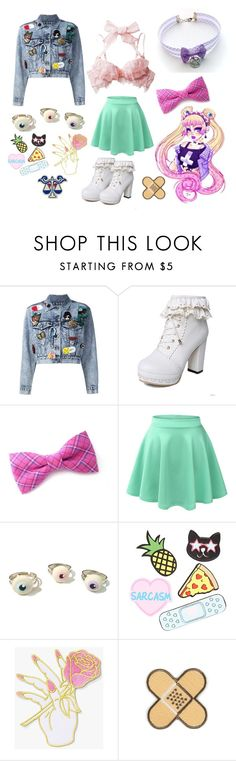 """""""Punk Mahou Shoujo"""" by jessiebelledesign ❤ liked on Polyvore featuring Usagi, Alice + Olivia, LE3NO, Forever 21, Big Bud Press and Diane Von Furstenberg"""