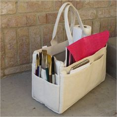 Canvas Rigger bag from Harbor Freight can store so many things. A great buy for $15.I use mine to take my art supplies to class.-myflowerjournal.com