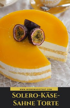 Solero Käse-Sahne Torte: richtig lecker & so einfach It tastes of summer, sun and vacation. Torte Au Chocolat, Cake Recipes, Dessert Recipes, Best Pie, Flaky Pastry, Mince Pies, Breakfast Buffet, Cream Cake, Food Cakes