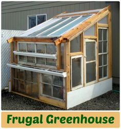 Here is a step by step, how to built your own a fabulously frugal greenhouse for less than $100. All you need is: old windows, extra lumber, and creativity.