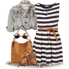 amazing stripe short dress  Cute and colorful summer teens outfits http://www.justtrendygirls.com/cute-and-colorful-summer-teens-outfits/