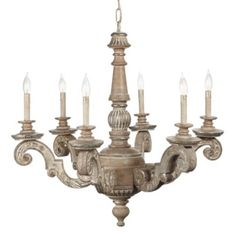 Maybe this...  Chateaux Chandelier from Z Gallerie