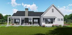Flexible Modern Farmhouse with Split Bedrooms - 64462SC thumb - 02