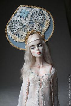 Купить Зимнее Утро - голубой, шарнирная кукла, бжд, bjd, кукла, подарок, Новый Год