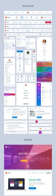 Huge and powerful UI kit for Sketch and Photoshop. With more than carefully crafted elements in 10 categories, this kit is designed to save your time and money. Web Design, Web Development Design, Web Layout Design, Powerpoint Design, Website Inspiration, Dashboard Design, App Design, Design, Application Design