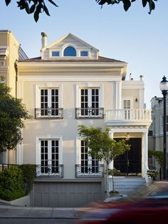 Classic details on the exterior of this Charleston residence