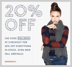 One of my all-time favorite NYC boutiques is having a storewide sale. 20% EVERYTHING! http://otteny.com/