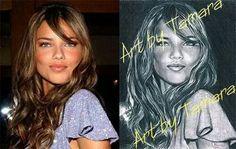 """♥♡♥ IDEA REGALO  GIFT""""t-shirt"""" stampa il tuo ritratto o la tua celebrità da un disegno ,sarà unica ed originale, contattami al sito  www.artbytamara.eu ♥♡♥"""